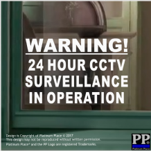 1 x Warning 24 Hour CCTV Surveillance In Operation Security Stickers Signs,Alarm